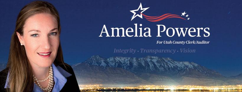 Amelia Powers Election Sign
