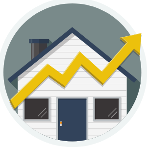 Growth in Lehi. Home With Arrow