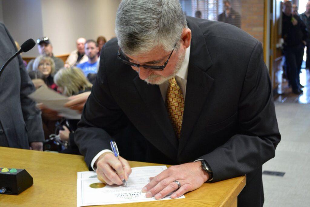 Mayor Johnson Signing